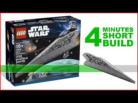 LEGO Super Star Destroyer 10221 SHORT BUILD Star Wars - 4 Minutes Fast Build