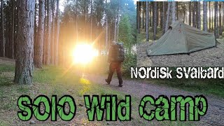 Nordisk Svalbard 1 PU tent review | Wild camping alone in a Pine Forest UK