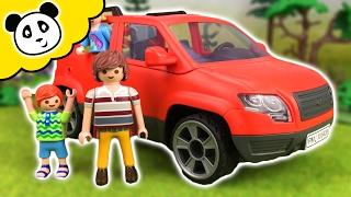 ⭕ PLAYMOBIL FAMILIE  - Das Familienauto - Spielzeug auspacken & spielen - Pandido TV