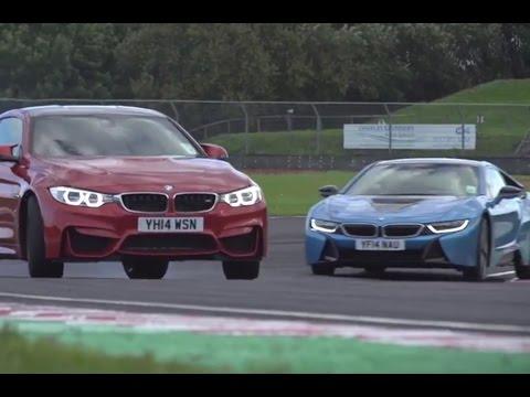 BMW i8 versus M4 - track battle