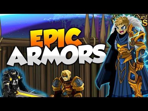 EPIC NEW ARMORS! New Quibble Coinbiter Shop! AQW AdventureQuest