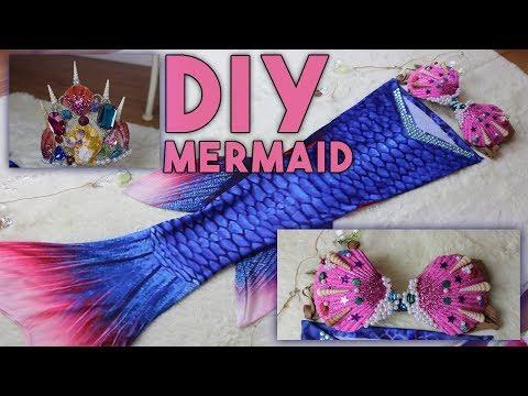 DIY Disfraz de Sirena Con el que puedes nadar 🧜♀️ 💕 // DIY Swimmable Mermaid Tale 🧜♀️💕