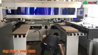 MÁY KHOAN CNC 6 MẶT 2 BÀN SIDES DRILLNG DOUBLE TABLE MACHINE HOLZTEK
