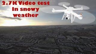 XIAOMI Mi Drone 4K - 1440P 2.7K video test in snowy weather