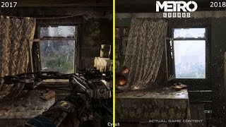 Metro Exodus E3 2017 vs 2018 GDC Tech Demo Graphics Comparison