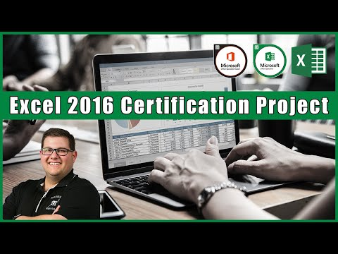 Excel 2016 Certification Project - YouTube
