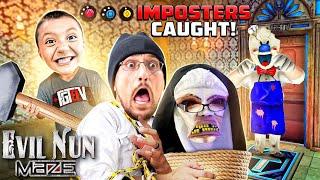 EVIL NUN & ICE SCREAM Impostors CAUGHT during MAZE Game! (FGTeeV Evil Nun Maze Gameplay/Skit)
