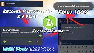 How to remove password from zip file. How to unlock zip file without password.For Android