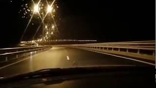 Крымский мост. Сейчас. Обледенения не позволяет двигаться транспорту. Жесть