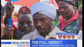 Nyeri residents react to the ruling made at the Supreme court and expectations from the full verdict
