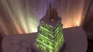 Disney Projection-mapped Wedding Cake