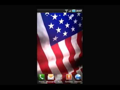 Video of Animated American Flag LWP
