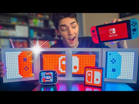 DIY CUSTOM LED Nintendo Switch Pixel LIGHT UP Art!! 🚨✨