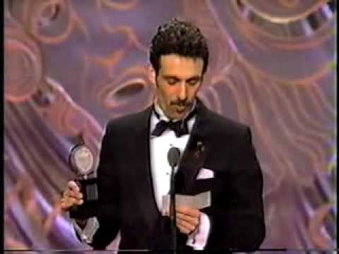 "Anthony Crivello wins Broadway's 1993 Tony Award for his performance in director Hal Prince's ""Kiss Of The Spiderwoman"""