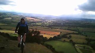 Mountain Biking Long Mynd - west side descent near Asterton