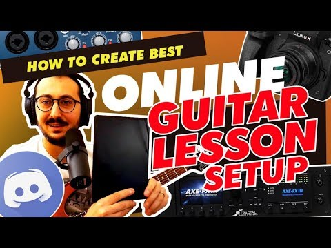 How to Create Best Online Guitar Lesson Setup