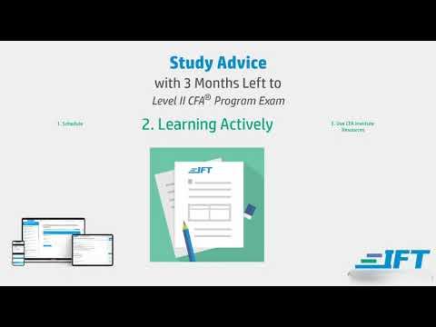 Level II CFA: Study Advice - 3-Months to the Exam - YouTube