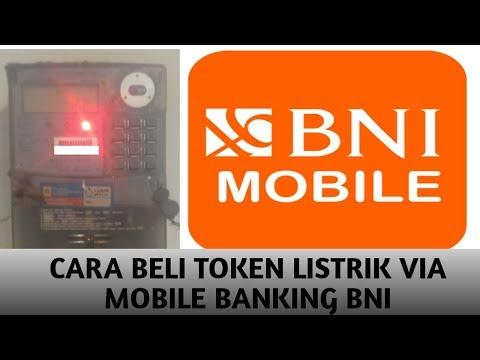 CARA BELI TOKEN LISTRIK VIA BNI MOBILE BANKING