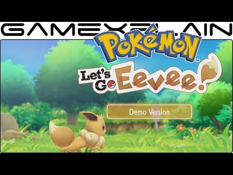 Pokémon Let's Go Eevee – Demo DIRECT FEED Gameplay (Viridian Forest)