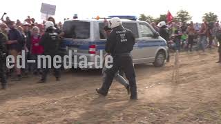 Clashes nach dem Waldspaziergang zum Hambacher Forst