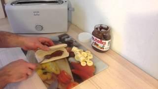 Faire un panini choco banane - Recette panini sucré