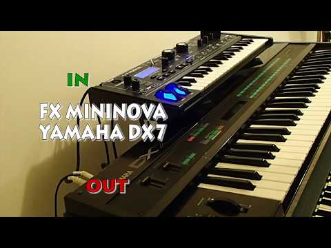 Yamaha DX7 use Novation Mininova FX