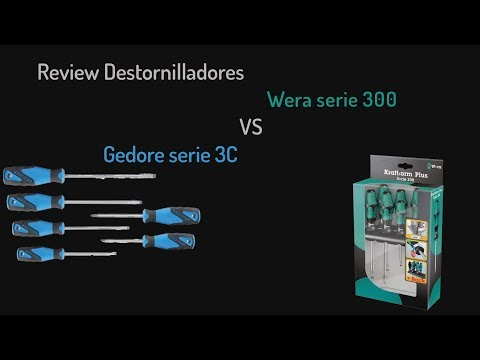 Review Destornilladores Wera serie 300 VS Gedore serie 3C | Español | | Screwdriver set |