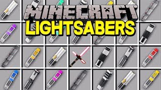 Minecraft LIGHTSABERS MOD! | CUSTOM STAR WARS LIGHTSABERS, FORCE POWERS, & MORE! | Modded Mini Game