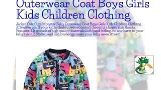 Jacket Kids Cute Monster Baby Outerwear Coat Boys Girls Kids Children Clothing