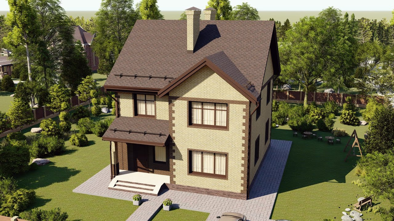 Проект дома 114-B, Площадь дома: 114 м2, Размер дома:  8,8x10,1 м
