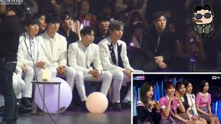 NU'EST W Reaction To EXO-CBX HEY MAMA @MAMA IN JAPAN 2017