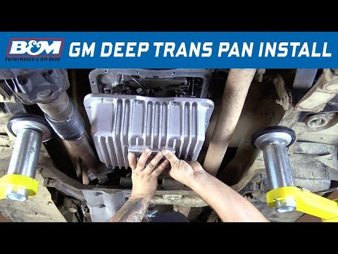 Install: GM TH350 Transmission - B&M Hi-Tek Transmission Pan 30280