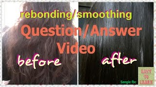 HOW TO DO HAIR REBOND Step by Step Guide - hmong video