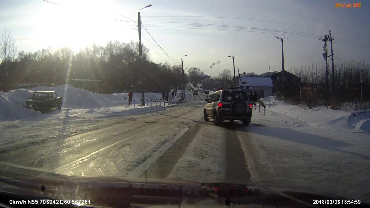 Пешеход перевернулся в воздухе от сильнейшего удара на перекрёстке в Кыштыме