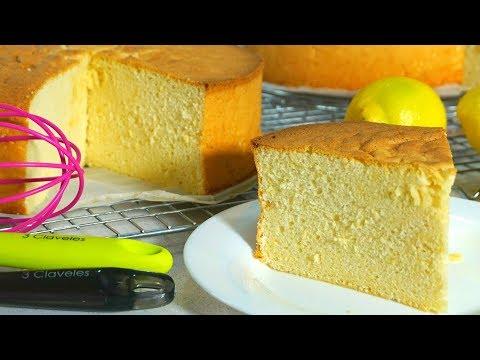 Bizcocho de limón para hacer tartas (sin aparatos eléctricos)