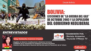"""BOLIVIA: """"LA GUERRA DEL GAS"""" Y LA EXPULSION DEL GOBIERNO NEOLIBERAL"""