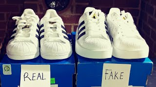 REAL VS. FAKE ADIDAS SUPERSTAR SHOES!