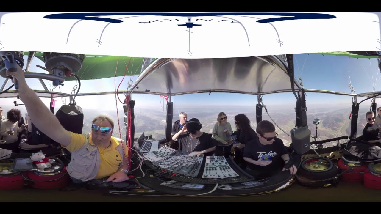 Magda - Live @ Hot-air Balloon 2000 meters above Zürich 2016
