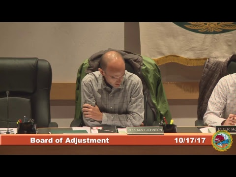 Board of Adjustment 10.17.17
