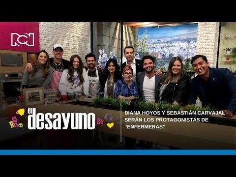 """El Desayuno   Diana hoyos y Sebastián Carvajal serán los protagonistas de """"Enfermeras"""""""