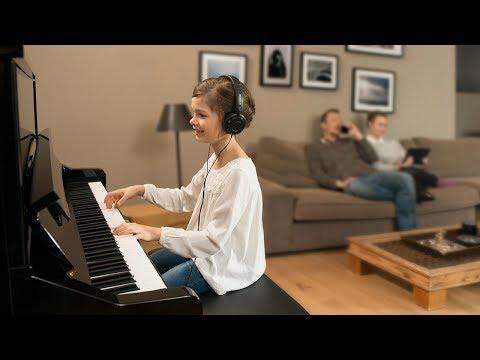 Yamaha B1 SC2 PE messing silent piano (zwart hoogglans)