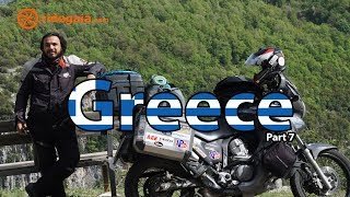 Ep 40  - Greece (part 7)  - Around Europe on a Motorcycle - Honda Transalp 700