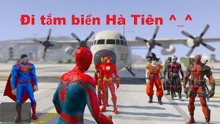 GTA 5 - Tắm biển Hà Tiên, Săn cá mập cùng Biệt đội Spiderman