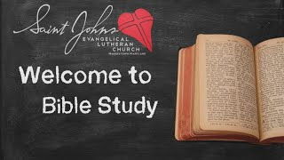 Bible Study Friday June 19,2020