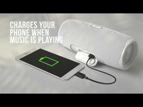 JBL Charge 4  hordozható Bluetooth hangszóró, fekete