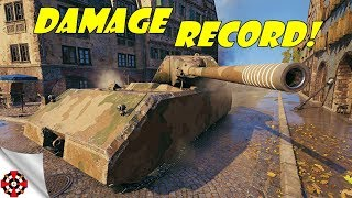 World of Tanks - Maus DAMAGE RECORD! (WoT Maus gameplay)