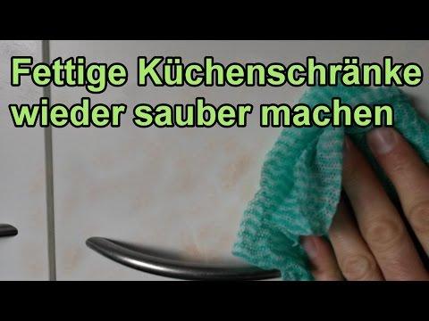 Fett von Küchenschränken entfernen – DIY Fettlöser selber machen / Küche sauber putzen !