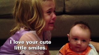 Girl melts down when she finds out brother will get bigger