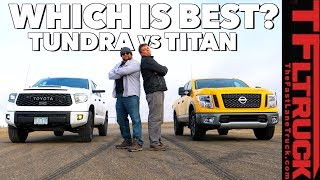 Drag Race and Flex Test! Toyota TRD Pro vs Nissan Titan (Gold Winch Ep.5)