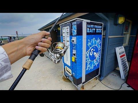 Saltwater Fishing Bait VENDING MACHINE!! (Fishing Challenge)